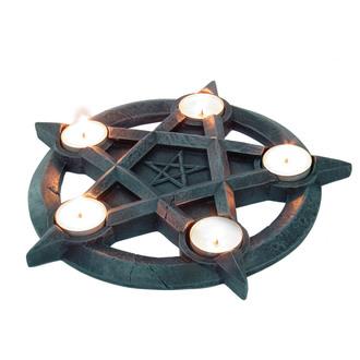 svícen (dekorace) velký Pentagram Tealights - NEM2273