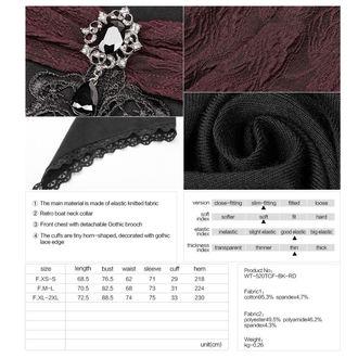 tričko dámské s dlouhým rukávem PUNK RAVE - Vespertine Gothic - WT-520 BK-RD