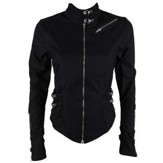 košile dámská Black Pistol - Buckle Blouse Denim Black, BLACK PISTOL