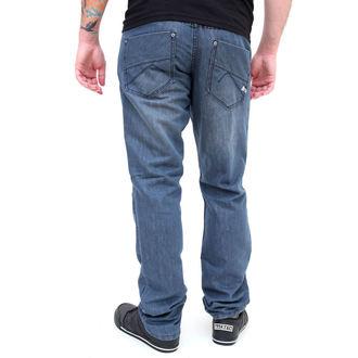 kalhoty pánské -jeansy- SLIM FIT - GLOBE - Sixx - GREY-BLUE