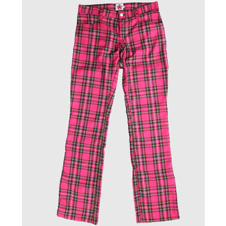 kalhoty Black Pistol - Hipster Tartan Pink, BLACK PISTOL