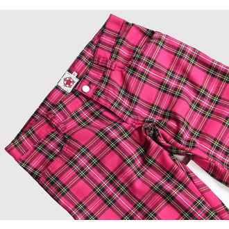 kalhoty Black Pistol - Hipster Tartan Pink