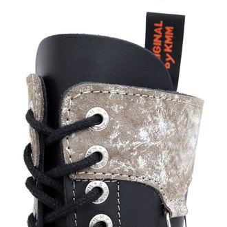 boty KMM 14dírkové - Black/Grey