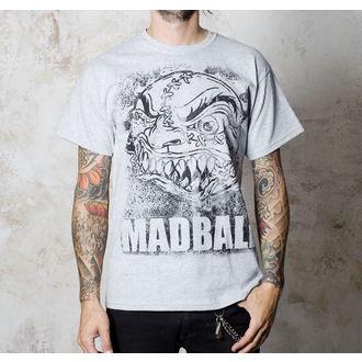 tričko pánské Madball - Splatter Ball - Sports Grey - BUCKANEER, Buckaneer, Madball