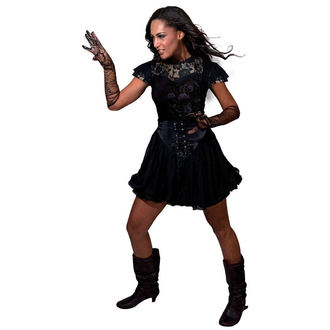 tričko dámské SPIRAL - Entwined - Lace Layered Viscos Blk