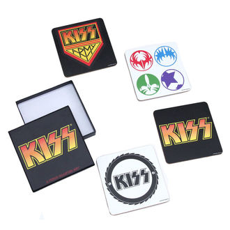 pivní tácky Kiss - A Piece Coaster Set - ROCK OFF, ROCK OFF, Kiss