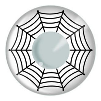 kontaktní čočka WHITE WEB - EDIT