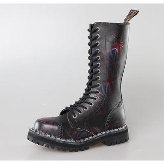 boty STEEL -15 dírkové  Union Jack Black (135/136 UK Black ), STEEL