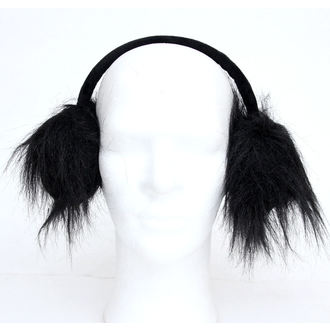 klapky na uši POIZEN INDUSTRIES - Fur Muffs - Black