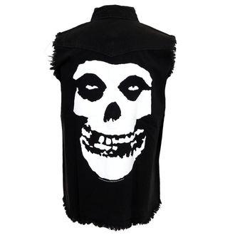 košile pánská bez rukávů (vesta) Misfits - Skull - WS009, RAZAMATAZ, Misfits