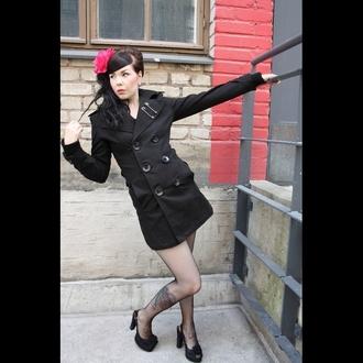 kabát dámský VIXXSIN - Hitchhicker - Black