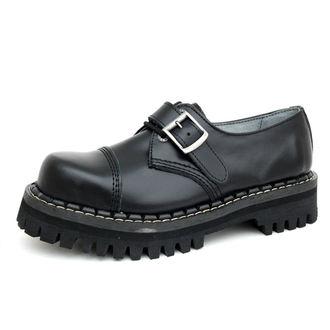 boty KMM 3dírkové - Black s přezkou - 031