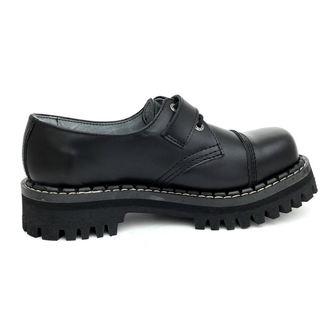 boty KMM 3dírkové - Black s přezkou, KMM