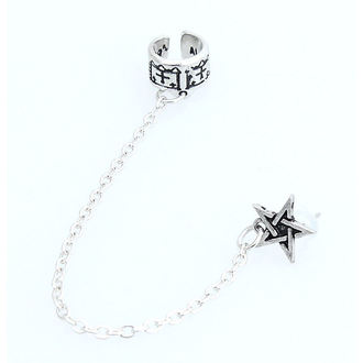 náušnice Pentagram Cuff Stud Earring ALCHEMY GOTHIC - E196