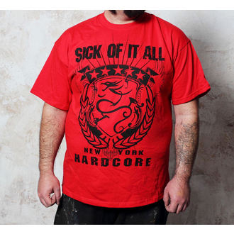 tričko pánské Sick Of It All - HC Crest - Red - BUCKANEER, Buckaneer, Sick of it All