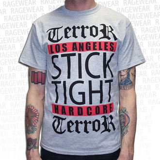 tričko pánské Terror - Los Angeles - Grey - RAGEWEAR - 029TSG28