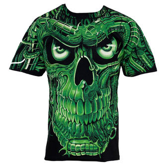 tričko pánské Terminator Skull - LIQUID BLUE, LIQUID BLUE