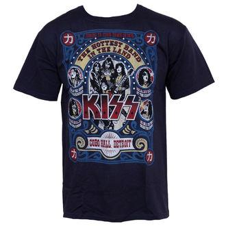 tričko pánské Kiss - Cobo Hall - LIQUID BLUE, LIQUID BLUE, Kiss