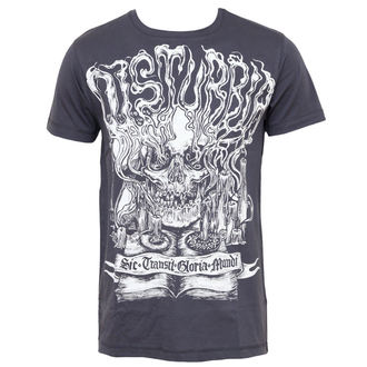 tričko pánské DISTURBIA - Mementomori - Charcoal
