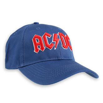 kšiltovka AC/DC - Red Logo Mid-Blue - ROCK OFF, ROCK OFF, AC-DC