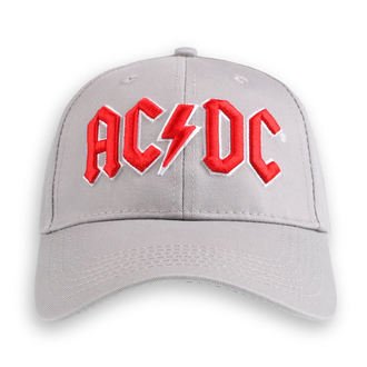 kšiltovka AC/DC - Red Logo Grey - ROCK OFF, ROCK OFF, AC-DC