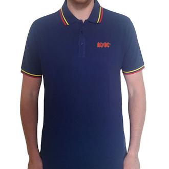 tričko pánské AC/DC - Classic Logo - NAVY Polo - ROCK OFF, ROCK OFF, AC-DC