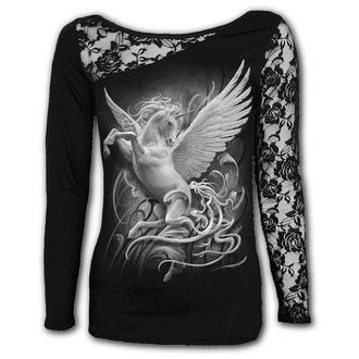 tričko dámské s dlouhým rukávem SPIRAL - PURITY - Black, SPIRAL