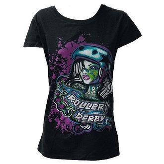 tričko dámské DARKSIDE - Roller Derby - Black