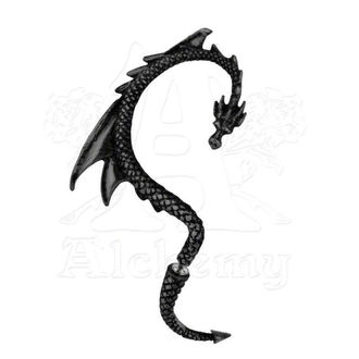 náušnice The Dragon´s Lure - Black - ALCHEMY GOTHIC, ALCHEMY GOTHIC
