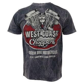 tričko pánské West Coast Choppers - Panhead Vintage - Blue, West Coast Choppers