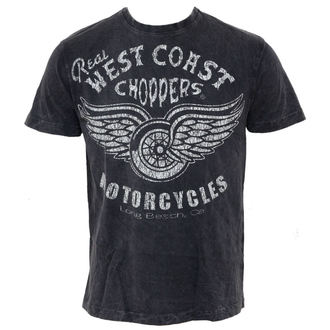 tričko pánské West Coast Choppers - Real Vintage - Black, West Coast Choppers
