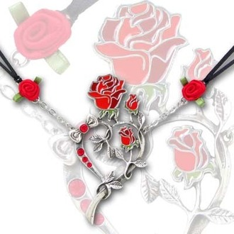 obojek Rose Heart - ALCHEMY GOTHIC - ULFP15