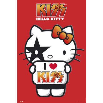 plakát Hello Kitty - Kiss I Love - GB Posters, HELLO KITTY, Kiss