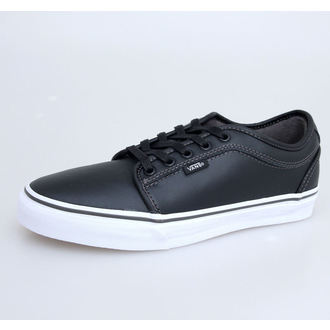boty pánské VANS - Chukka Low - Black Leather/Dark Grey - VNKA6I5