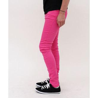 kalhoty dámské HELL BUNNY - Super Skinny - Pink, HELL BUNNY