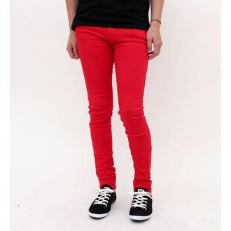 kalhoty dámské HELL BUNNY - Super Skinny - Red, HELL BUNNY