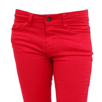 kalhoty dámské HELL BUNNY - Super Skinny - Red