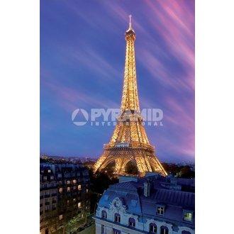 plakát Eiffel Tower At Dusk - Pyramid Posters, PYRAMID POSTERS