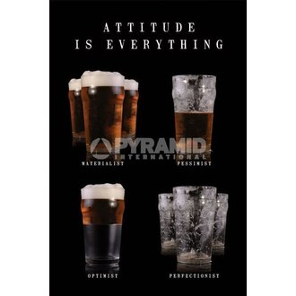 plakát Attitude Is Everything - Pyramid Posters, PYRAMID POSTERS