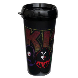hrnek termo KISS - Logo & Faces - ROCK OFF, ROCK OFF, Kiss