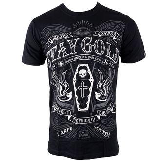 tričko pánské LIQUOR BRAND - Stay Gold - Black, LIQUOR BRAND