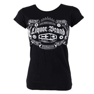 tričko dámské LIQUOR BRAND - Coffin - Black - 073