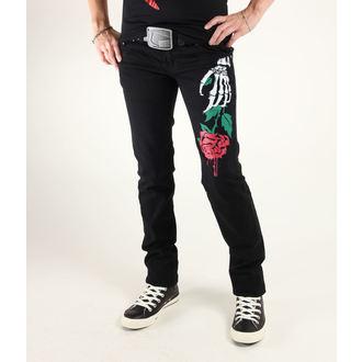 kalhoty dámské 3RDAND56th - Stelly Rose Skinny Jeans - JM1033