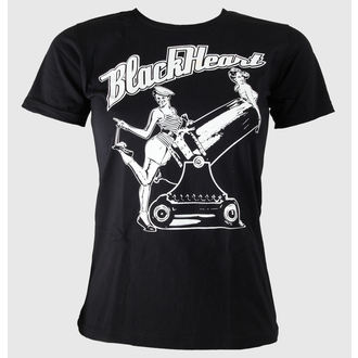 tričko dámské BLACK HEART - Pin Up - Black