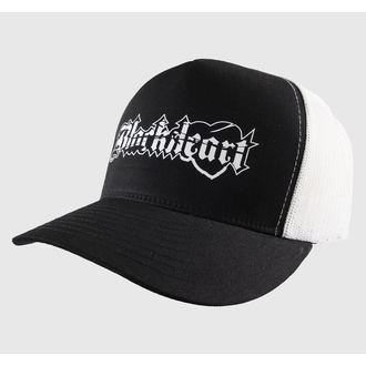 kšiltovka BLACK HEART - TRUCKER - Logo - Black/White - BH171