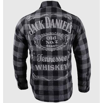 košile pánská s dlouhým rukávem Jack Daniel´s - Black/Grey - BIOWORLD, JACK DANIELS