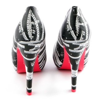 boty dámské (střevíce) ABBEY DAWN - Zip It Platform - BLACK