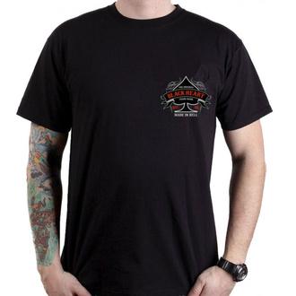 tričko pánské BLACK HEART - MEGAN - BLACK, BLACK HEART
