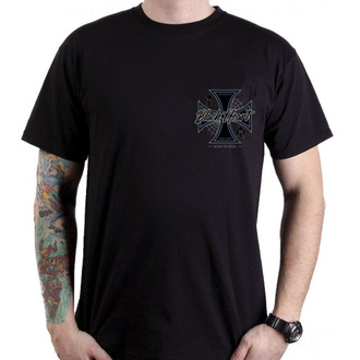 tričko pánské BLACK HEART - CHOPPER CROSS - BLACK, BLACK HEART