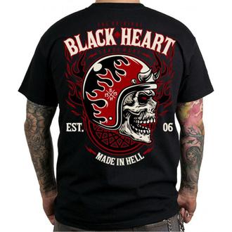 tričko pánské BLACK HEART - HATTER - BLACK, BLACK HEART